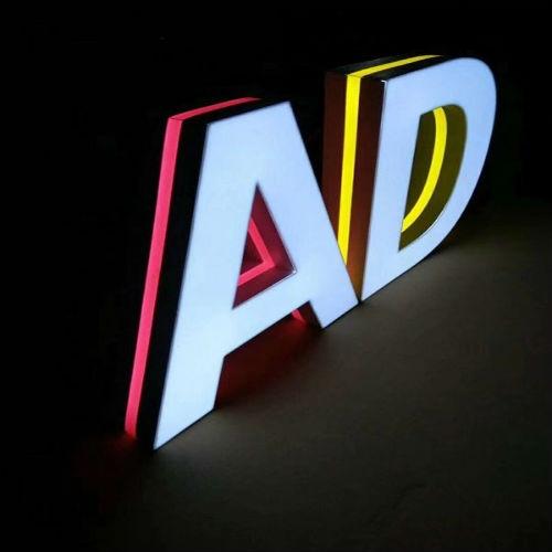 3D双色发光字